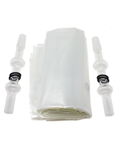 Arizer balení balónků se skleněnými náustky mají vše, co potřebujete pro nahrazení balónků v balení s vaporizérem.